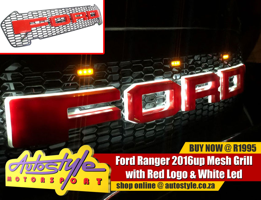 Ford Ranger Wild Trac,Dakar,Raptor grilles asst designs from R1195  Ford Ranger Bonnet Guard R350 Ford Ranger Headlight Guard R295 Ford Ranger Winsheild Gaurd R220a Ford Ranger BMC Air Filter R595a Ford Ranger Car Bra R595