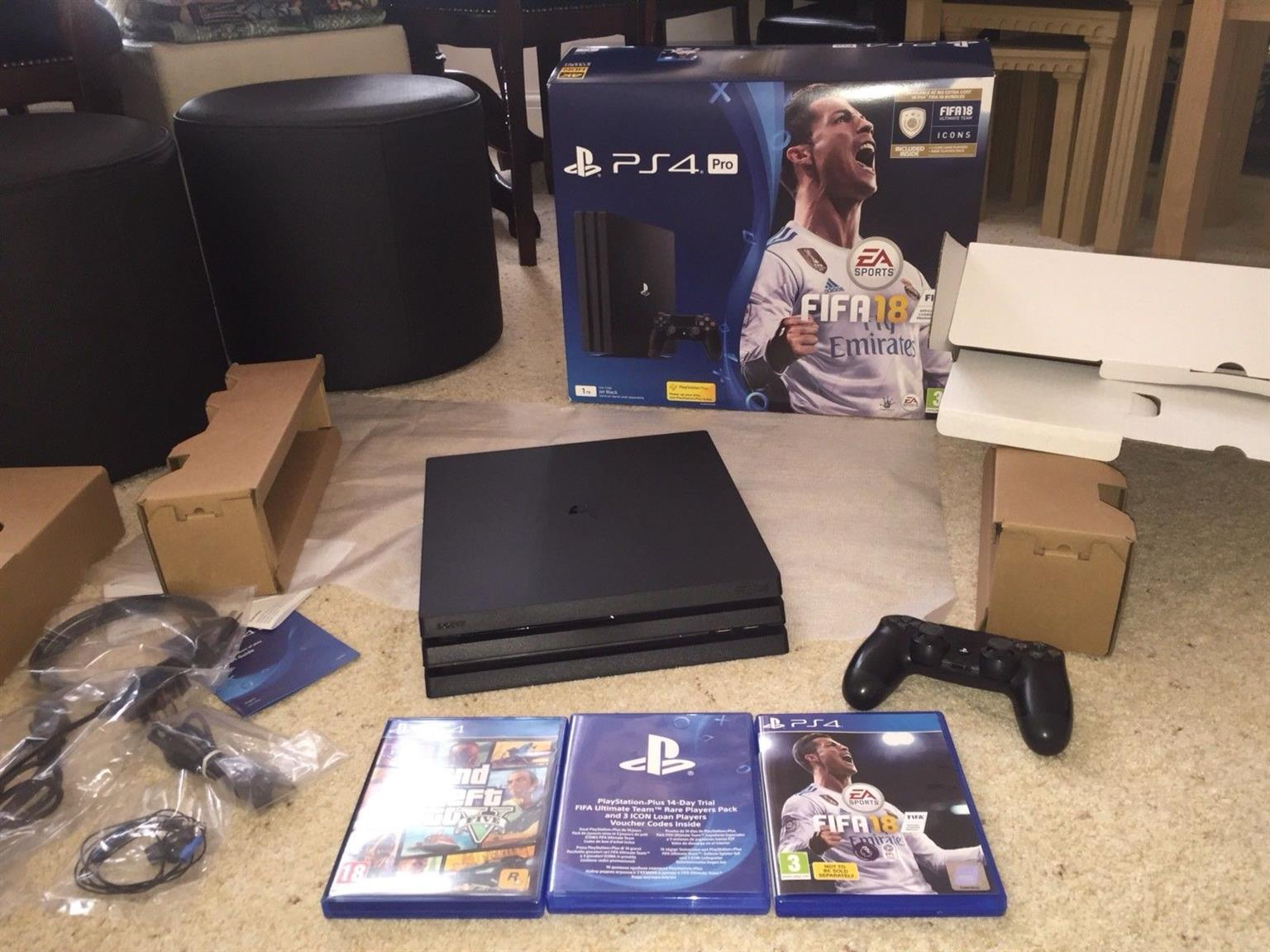 Sony Playstation 4 Pro 1tb 4k Game Console Black Junk Mail Region 3