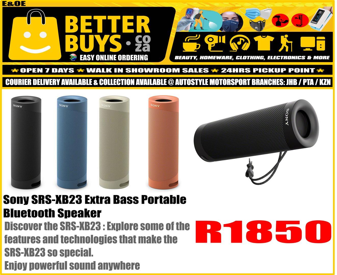 Sony SRS-XB23 Extra Bass Portable Bluetooth Speaker - Similar to JBL FLIP