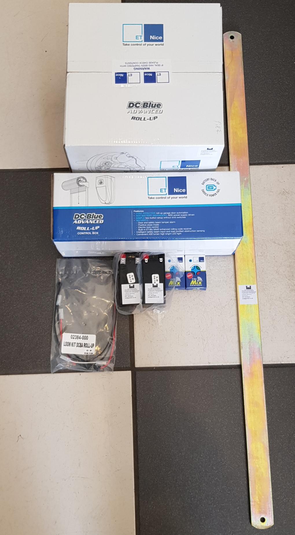 Roll Up Garage Door Motor Kit New Complete Batteries Remotes