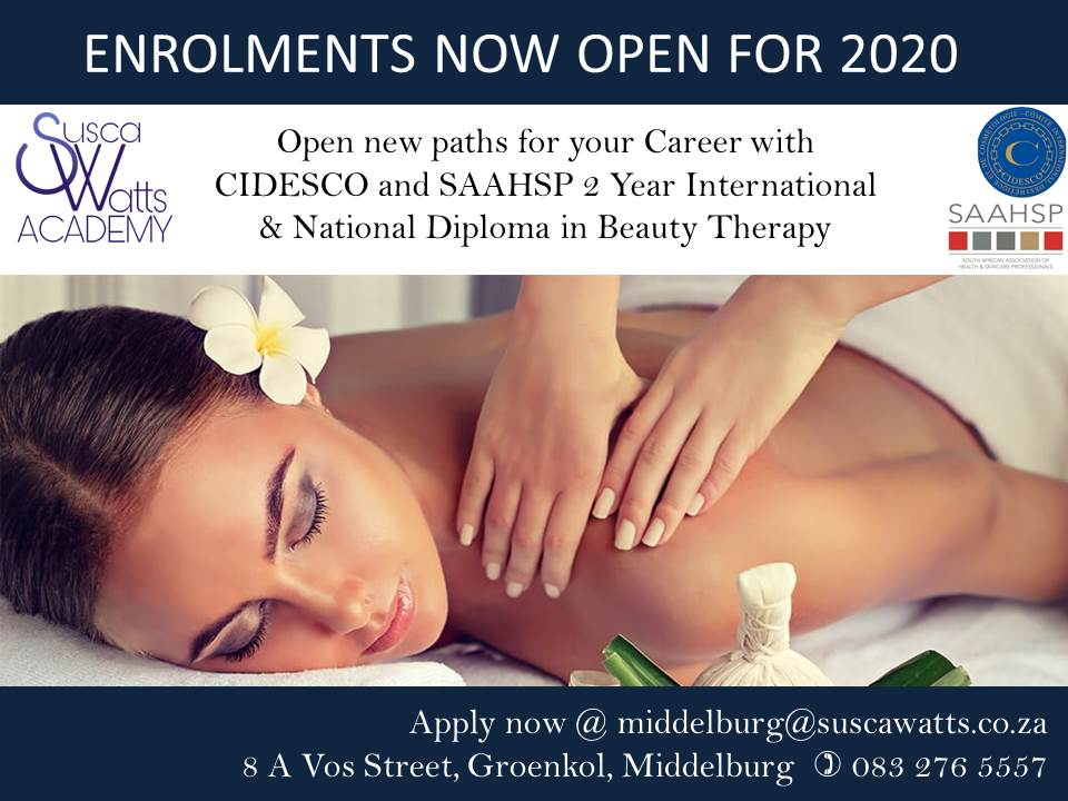 CIDESCO AND SAAHSP 2 Year International and National Diploma in Beauty Therapy
