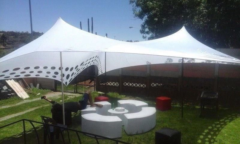 Party Hire Stretch Tents Ottomans Couches Tables Chairs Linen Junk Mail