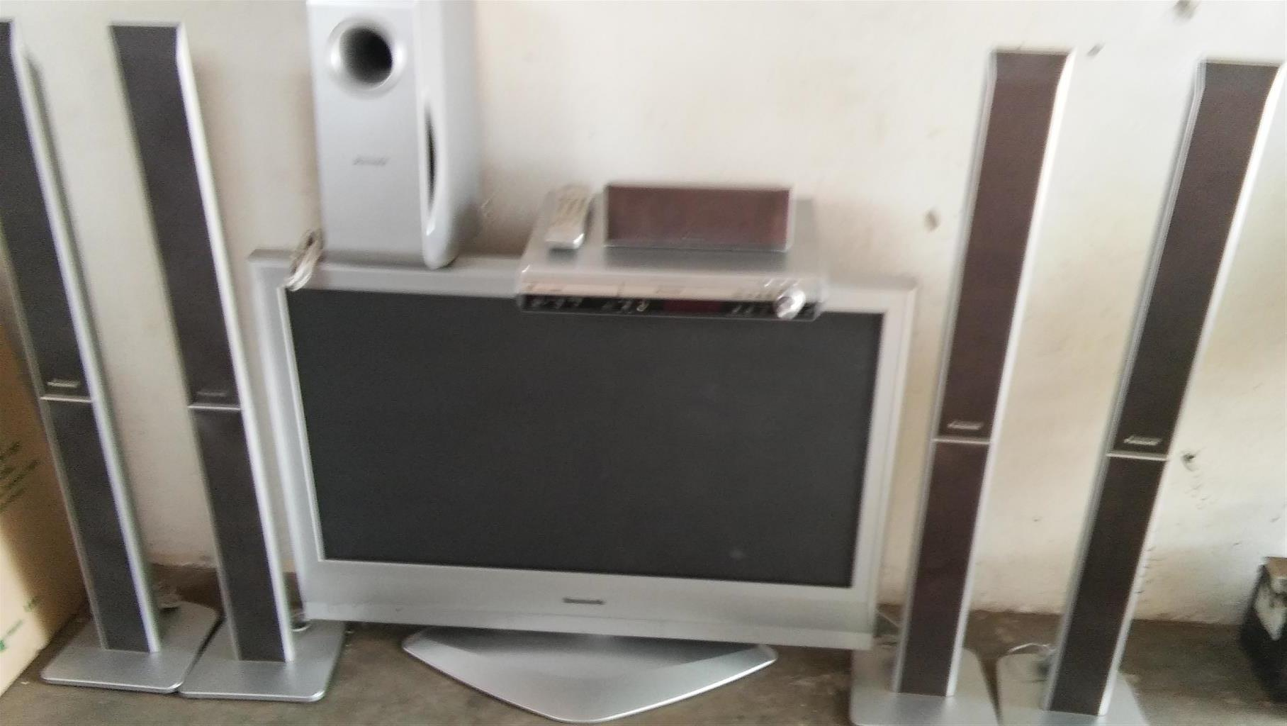 Panasonic 42 inch Flat screen TV and Home Theatre system