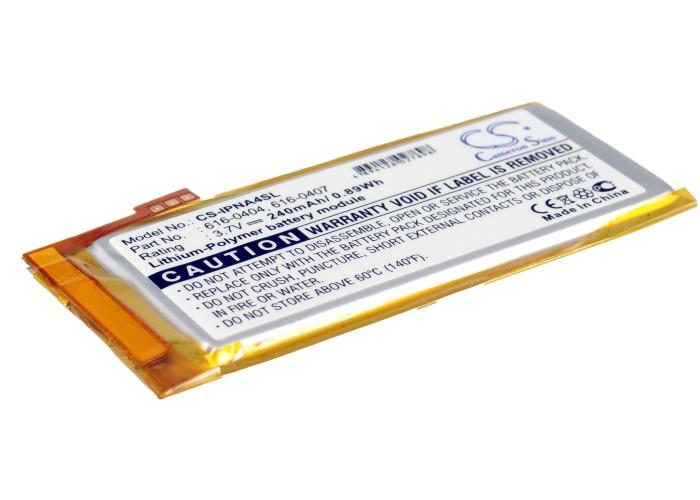 APPLE iPod Nano 4th 16GB Laptop Battery /240mAh