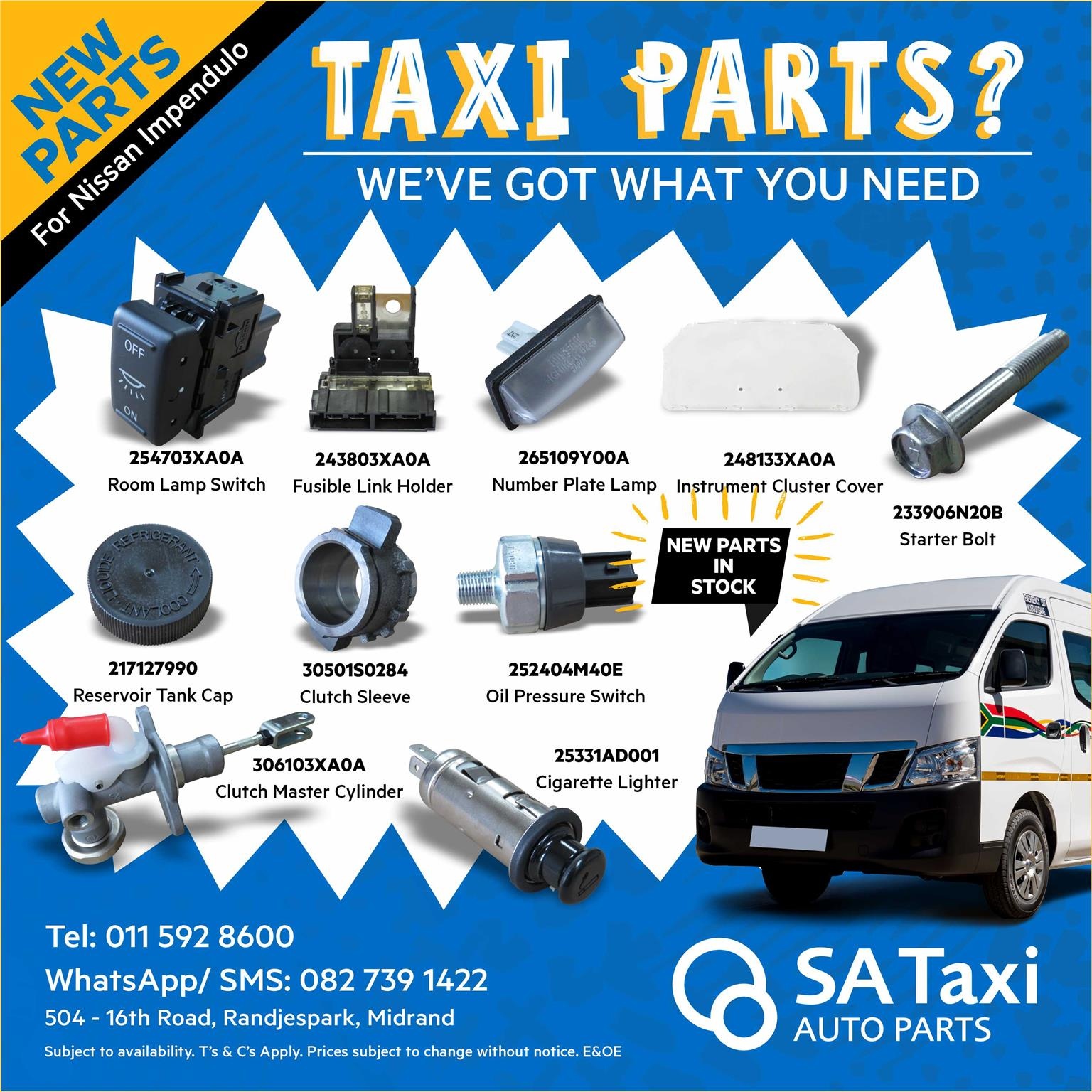 Front Brake Disc - New Parts for Nissan NV350 Impendulo - SA Taxi Auto Parts quality spares