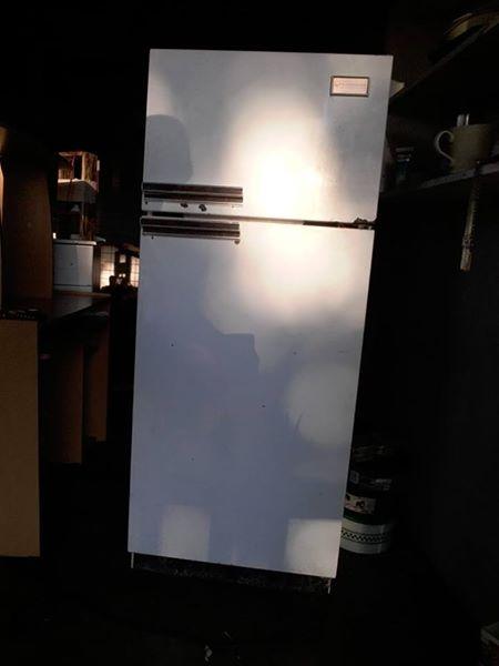 Old fridge with freezer