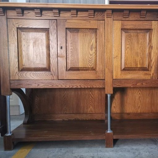 Oak Dining Room Set with Buffet