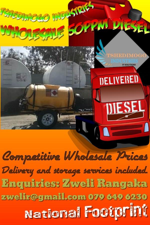 Wholesale 50 ppm diesel delivered