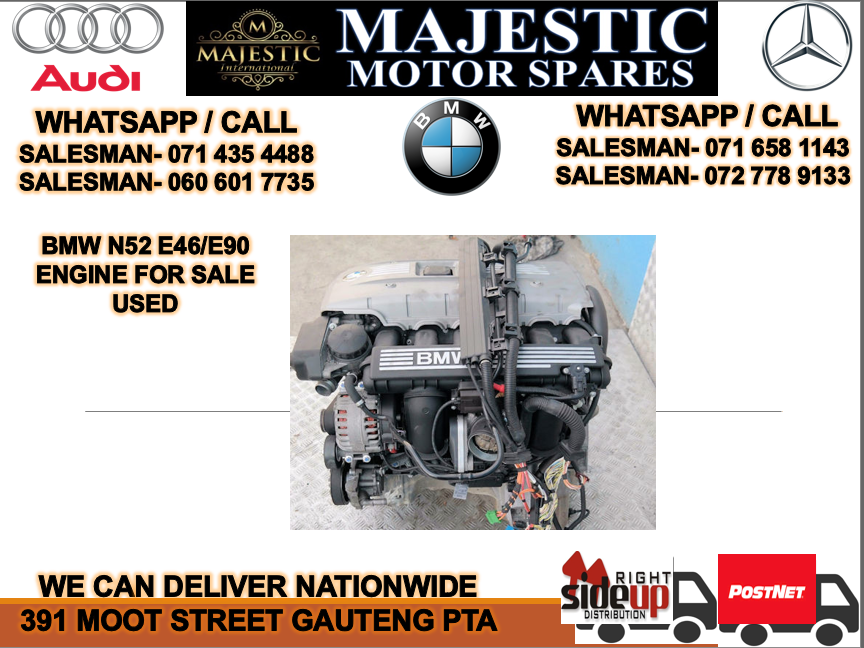 Bmw N52 E46 engine used for sale