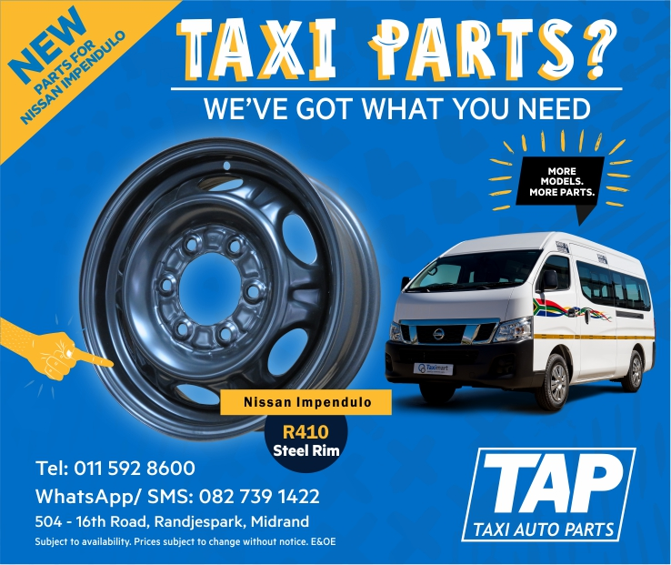 NEW parts for Nissan Impendulo - STEEL RIM -Taxi Auto Parts TAP