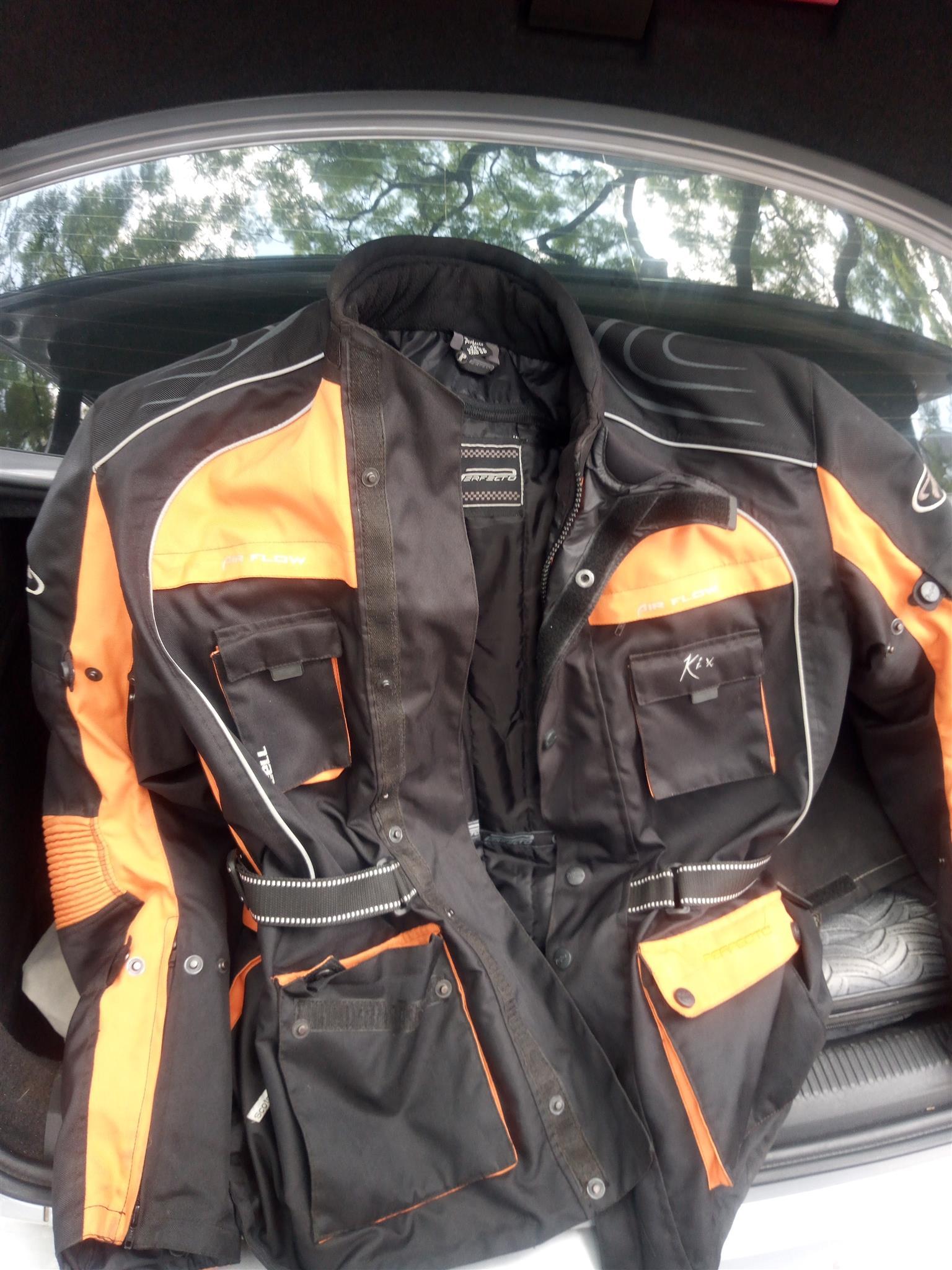 Protecta KTM type biker jacket with matching pants1