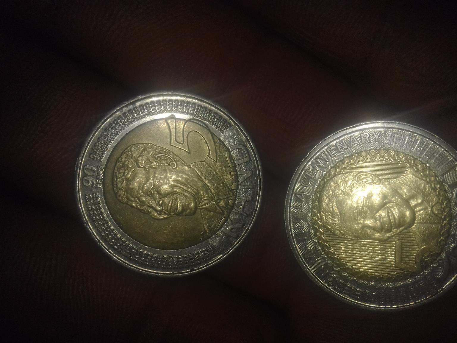 nelson mandela R5 coin