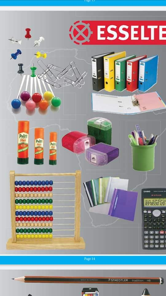 Stationeries and Cleaning Materials