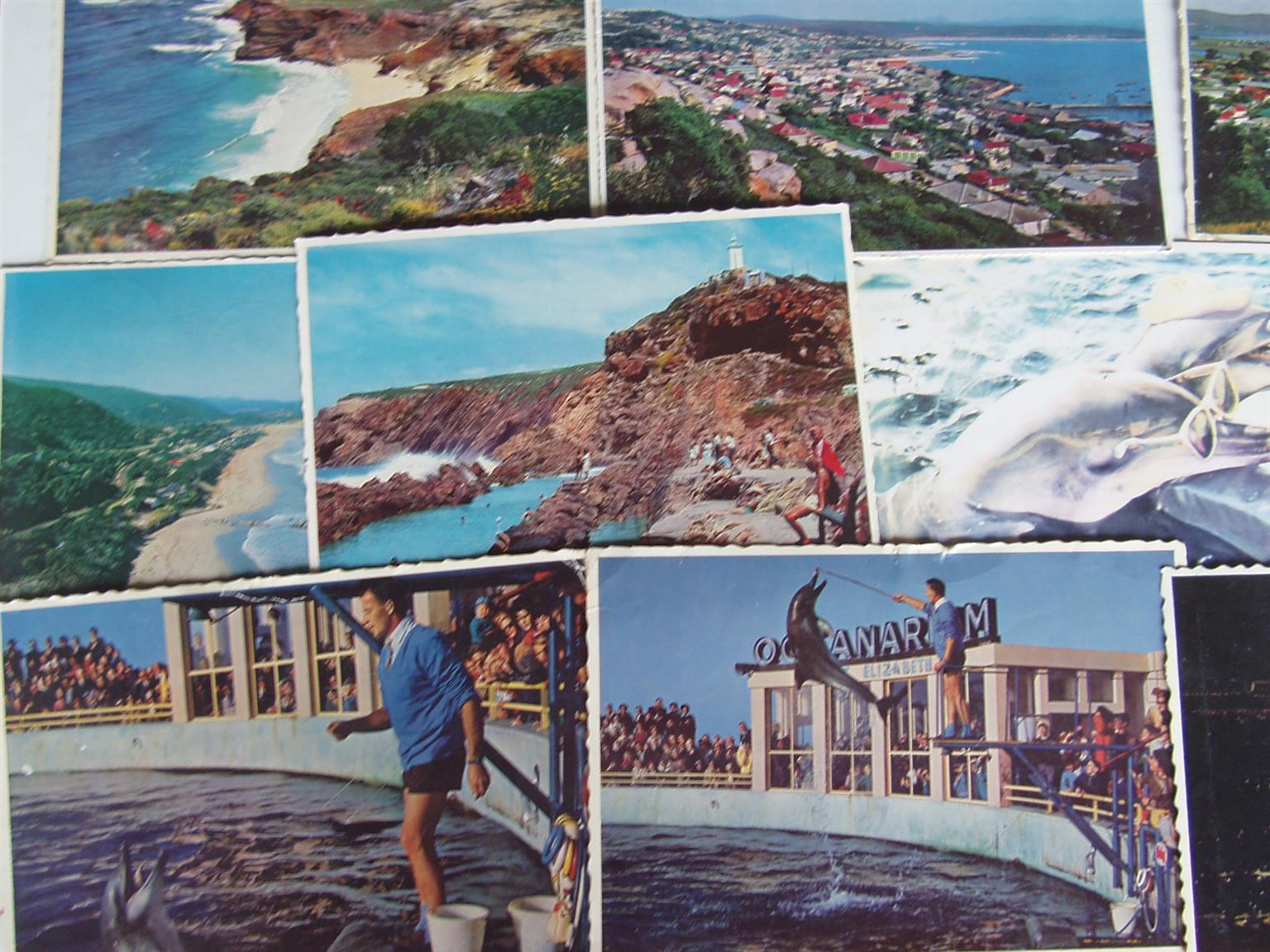 OLD Post Cards - Mossel Bay , Wilderness & PE  - 13 Post Cards - in good condittion