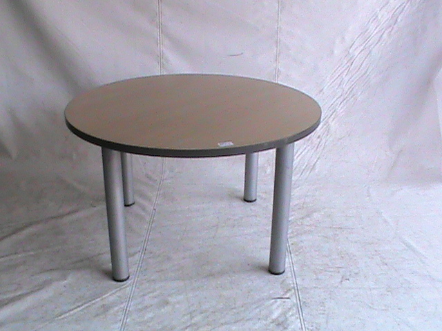 Beech wood round boardroom table