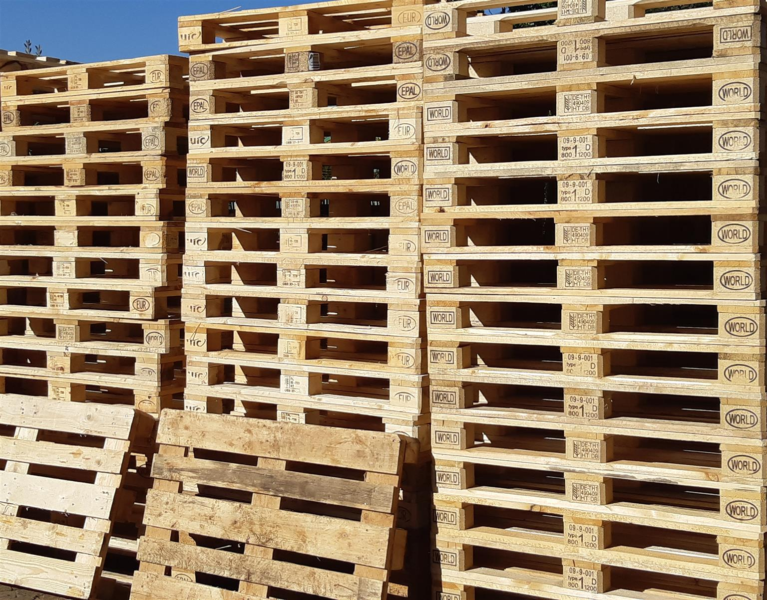 PALLETS FOR SALE DIFFERENT SIZES FROM R45 - R55 - R65 - R90