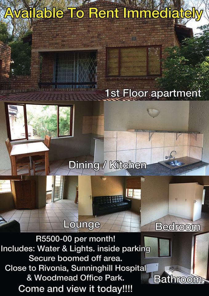 1 bedroom flat to let. Gallo Manor, Sandton