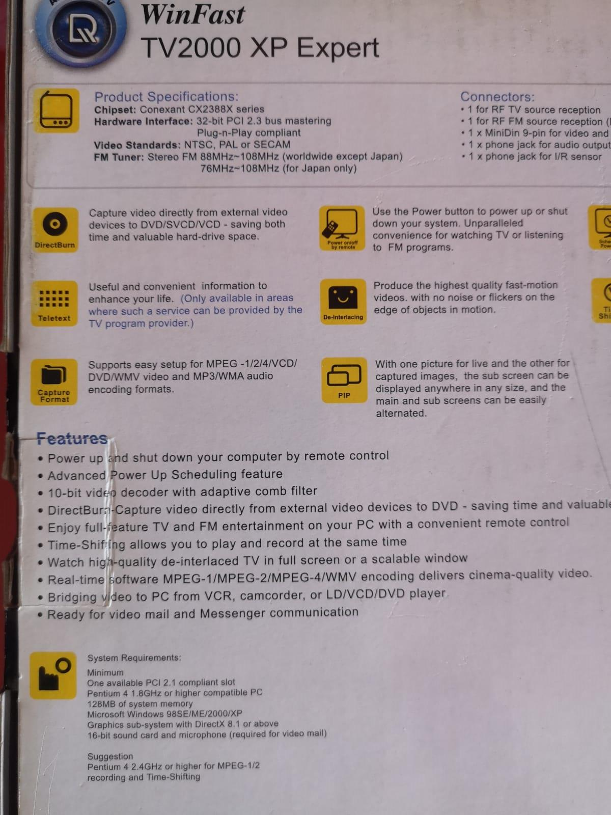 WinFast Computer TV Card