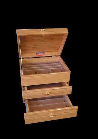 Wooden boxes for fishing, crafts and hobbies.