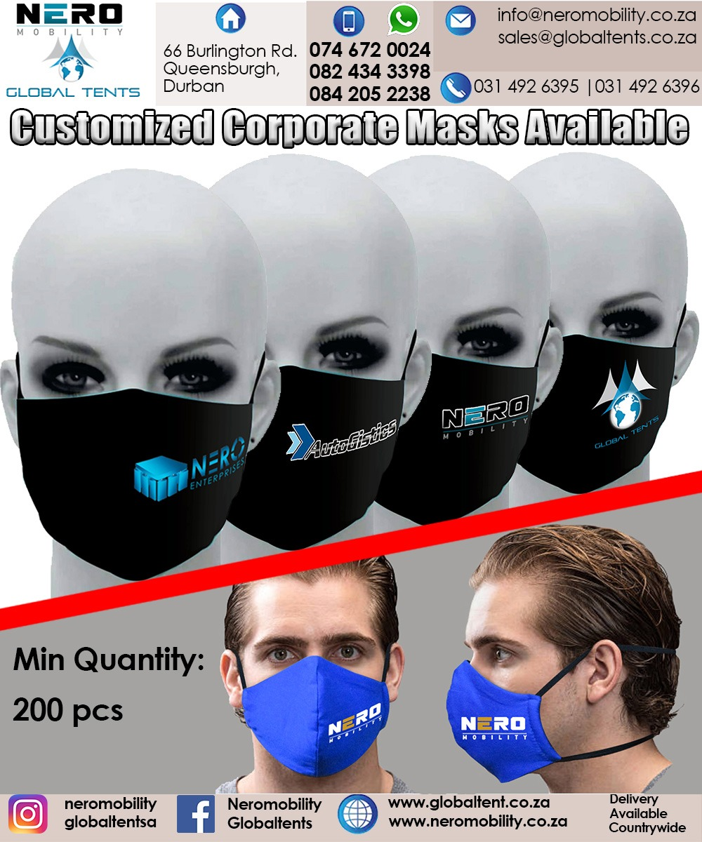 Customized Corporate face masks