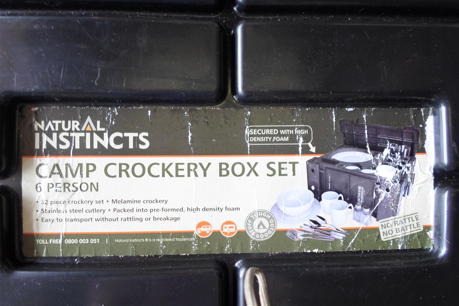 Natural Instincts Camp Crockery Box