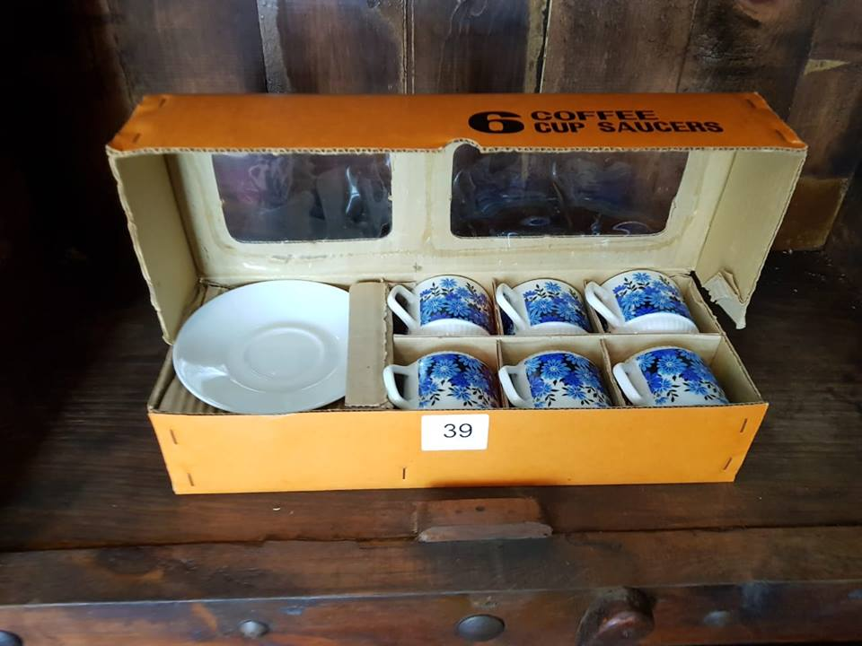 6 Blue coffee cup and saucer set