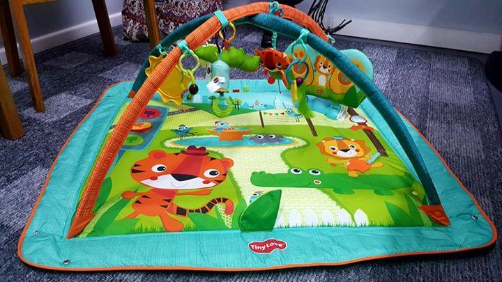 Tiny Love Kick & Play City Safari Play Mat Baby Gym For Sale