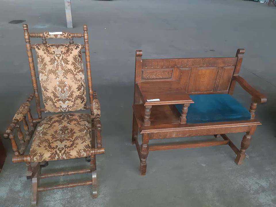 Antique telephone table and rocking chair - Antique Telephone Table And Rocking Chair Junk Mail