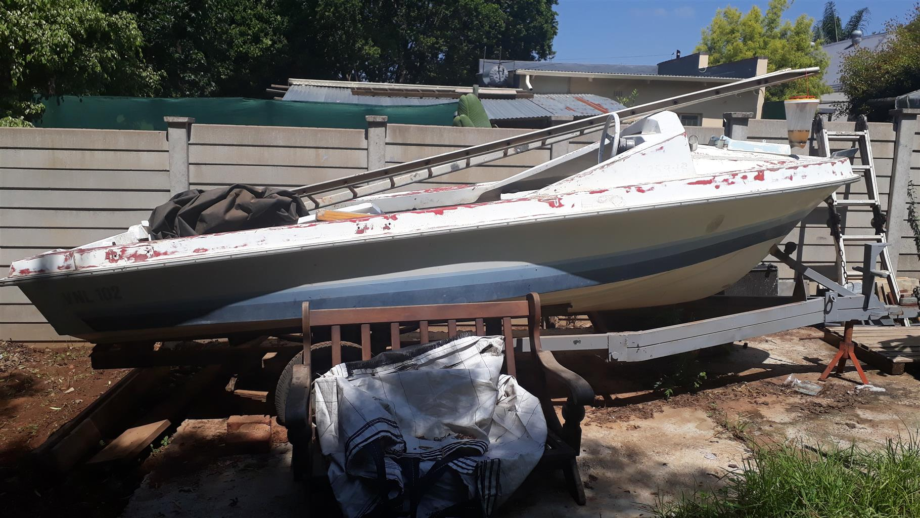 5m boat and trailer