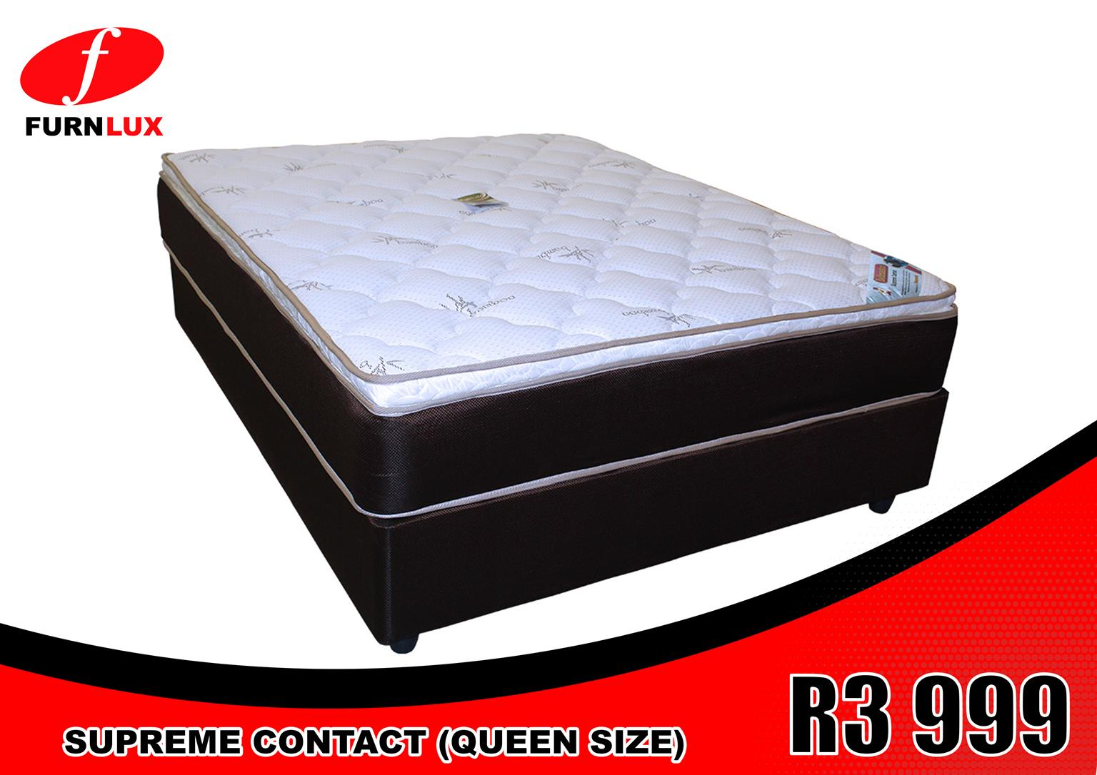 QUEEN SIZE BED SUPREME CONTACT BRAND NEW!!!! FOR ONLY R3 999