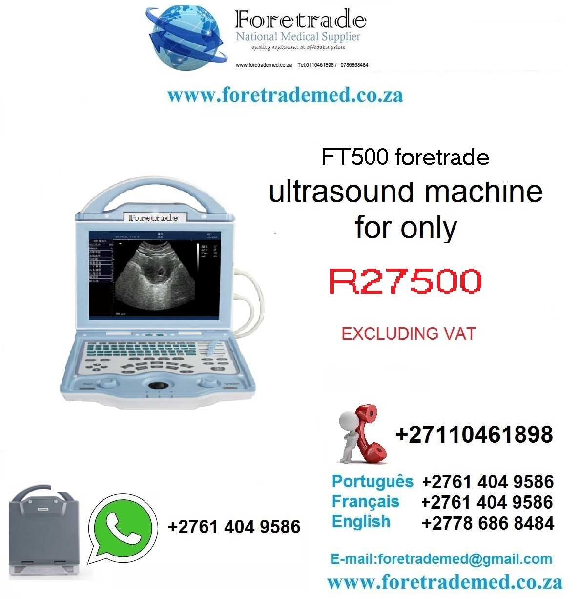 FT500 VETERINARY ULTRASOUND MACHINE only for R28900 contact patrick on 0110461898