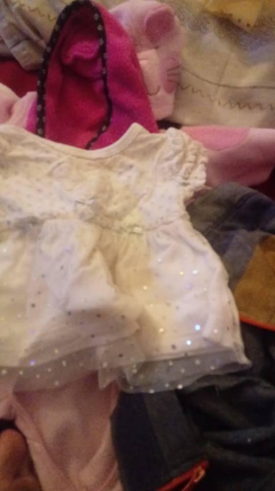 White baby tutu dress with glitter