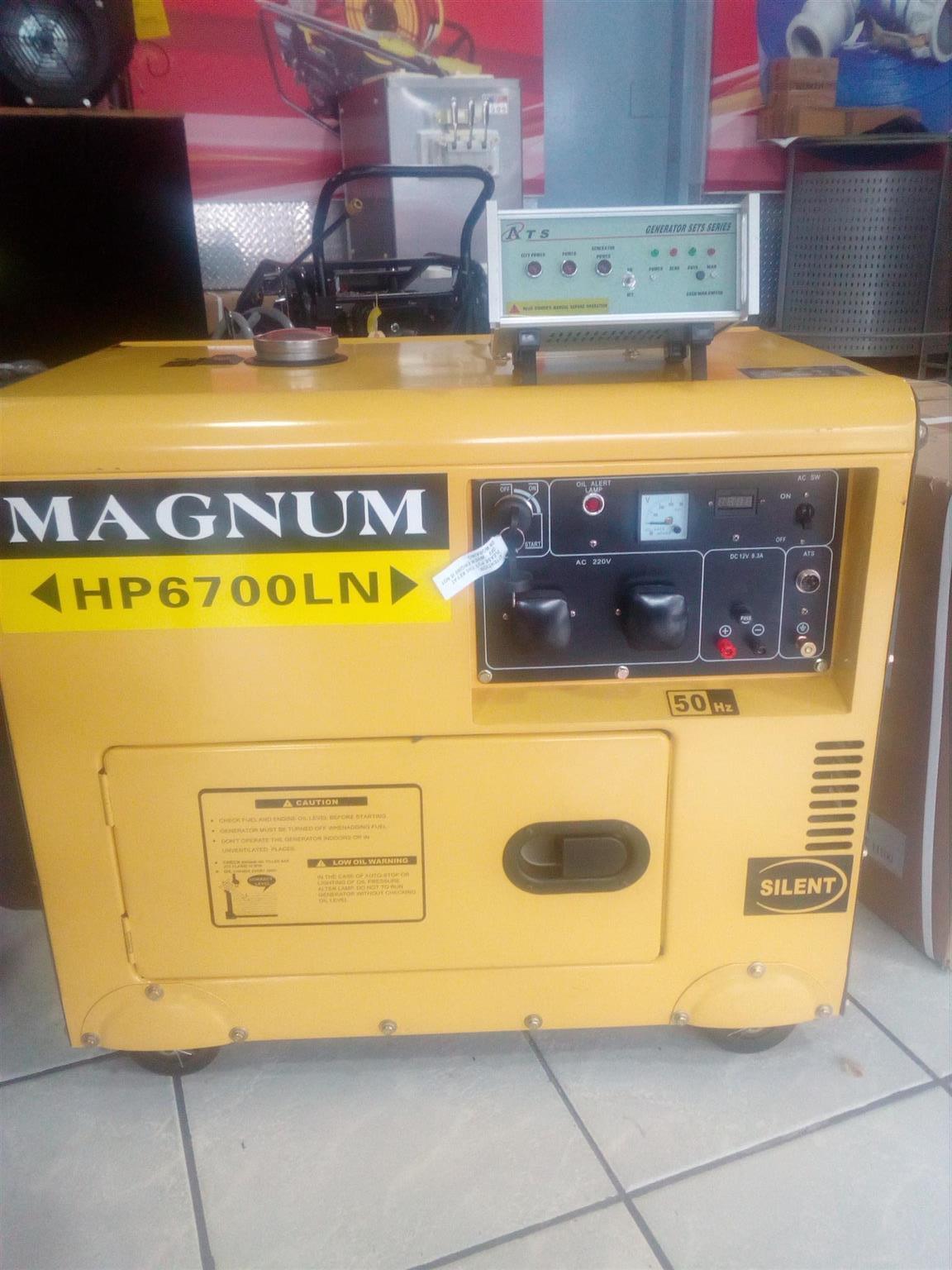 Magnum Generator Silent Type 8kva/6.5kw DIESEL price incl vat