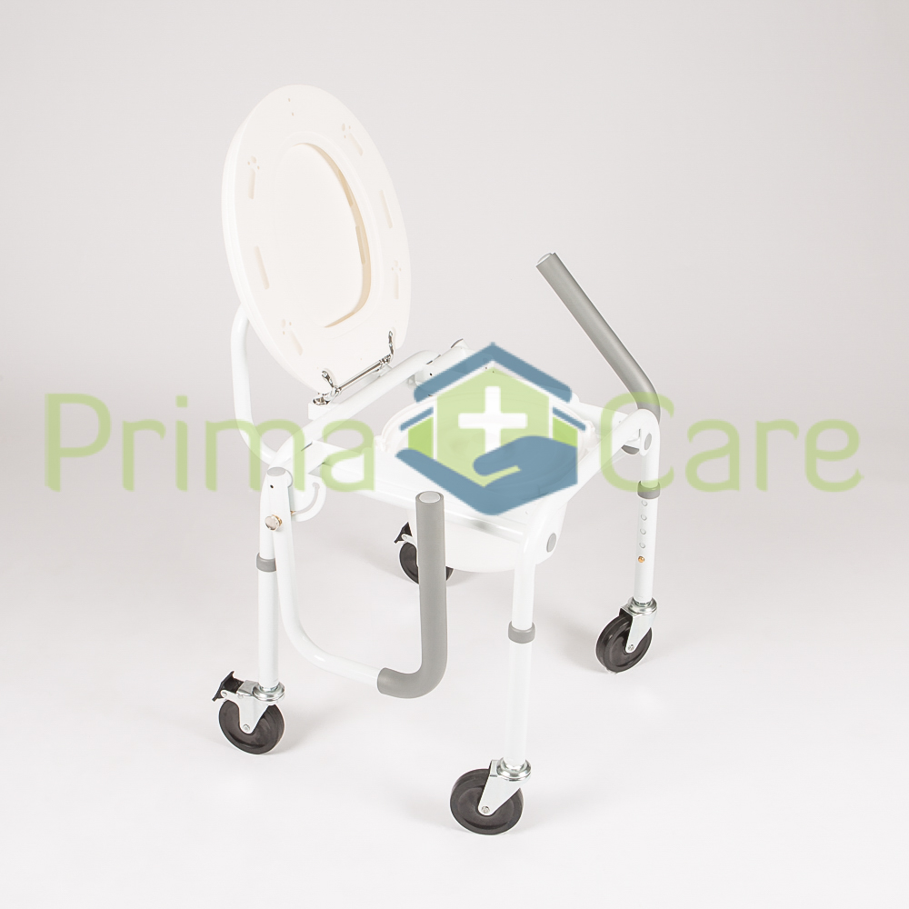 Drop Arm Commode with wheels - ON SALE  WHILE STOCKS LAST