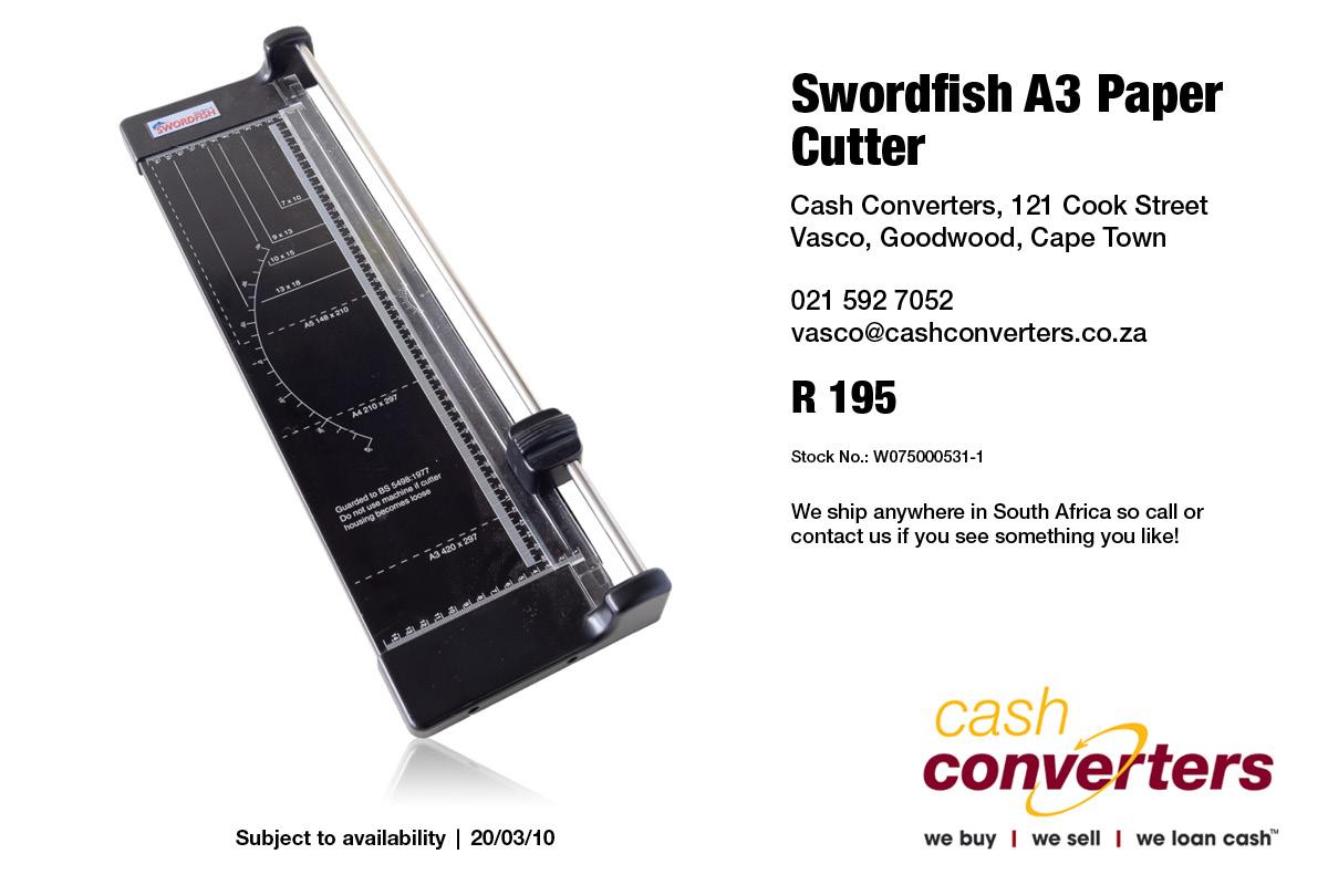 Swordfish A3 Paper Cutter