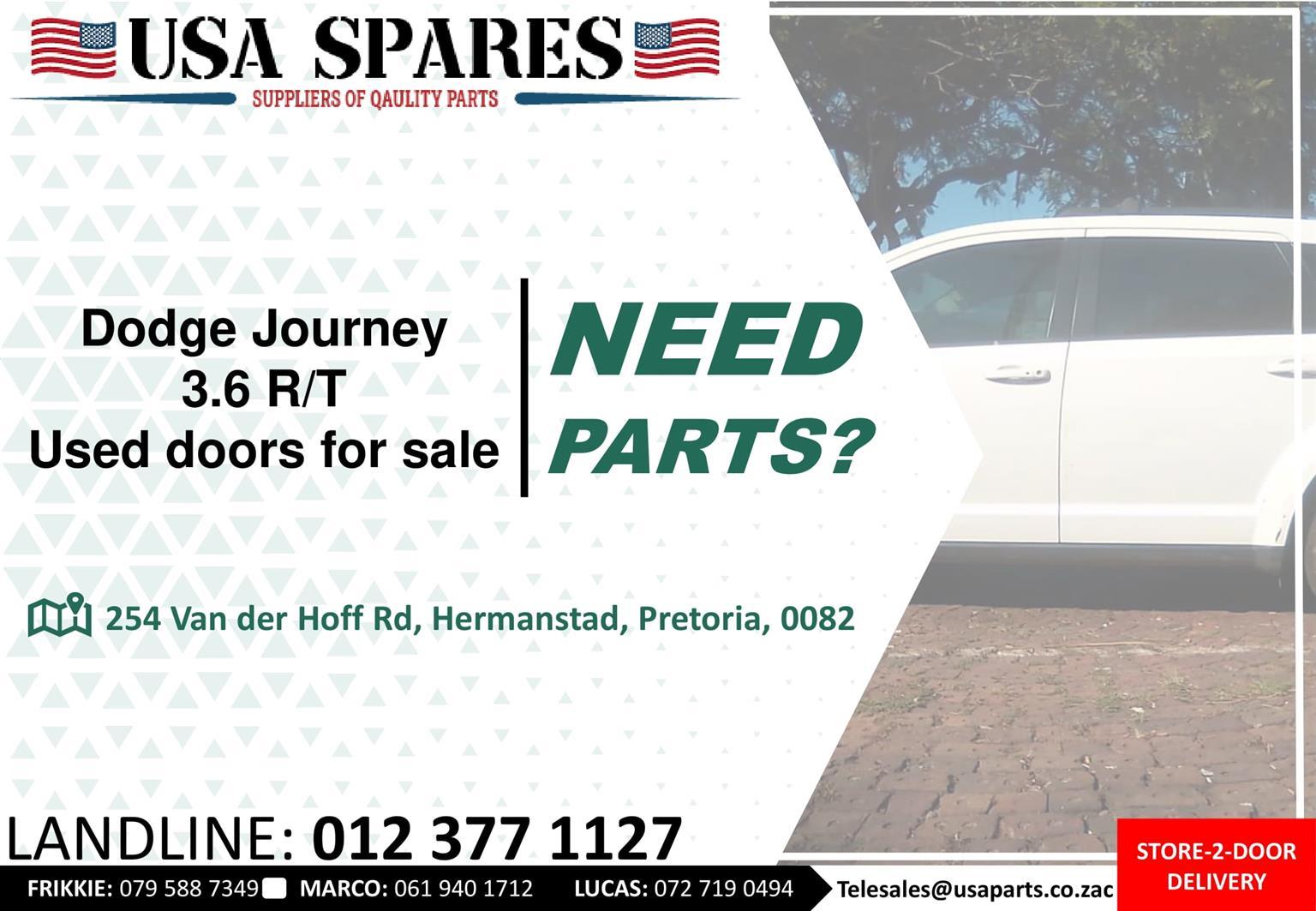Dodge Journey 3.6 RT used doors for sale