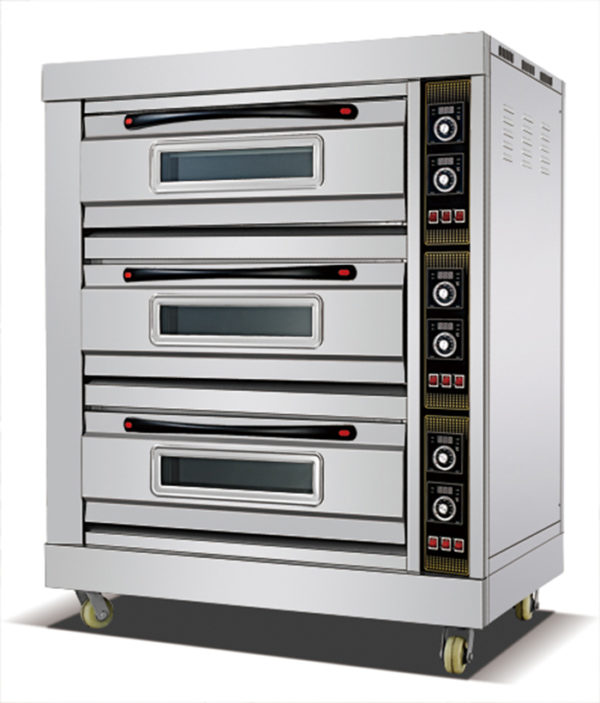 HEO-39 ELECTRIC 3 DECK 9 TRAY BAKING OVEN
