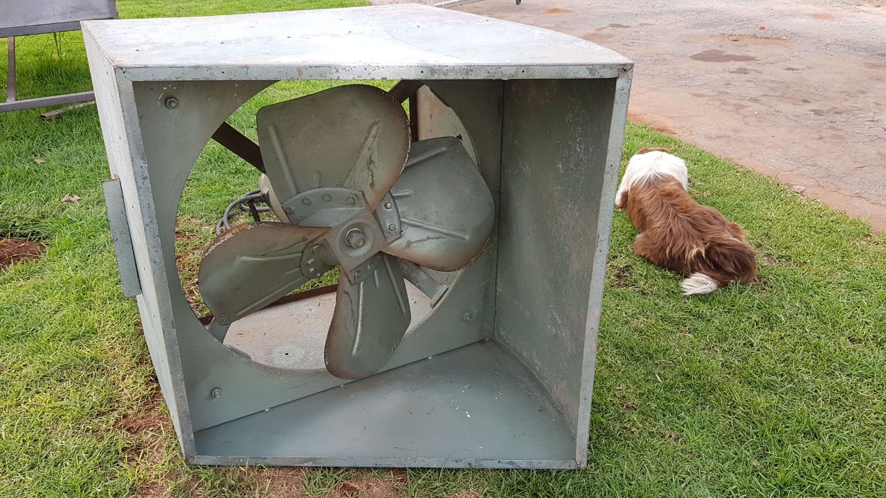 Air Extraction Fan, Ø-750 mm, Metal Box