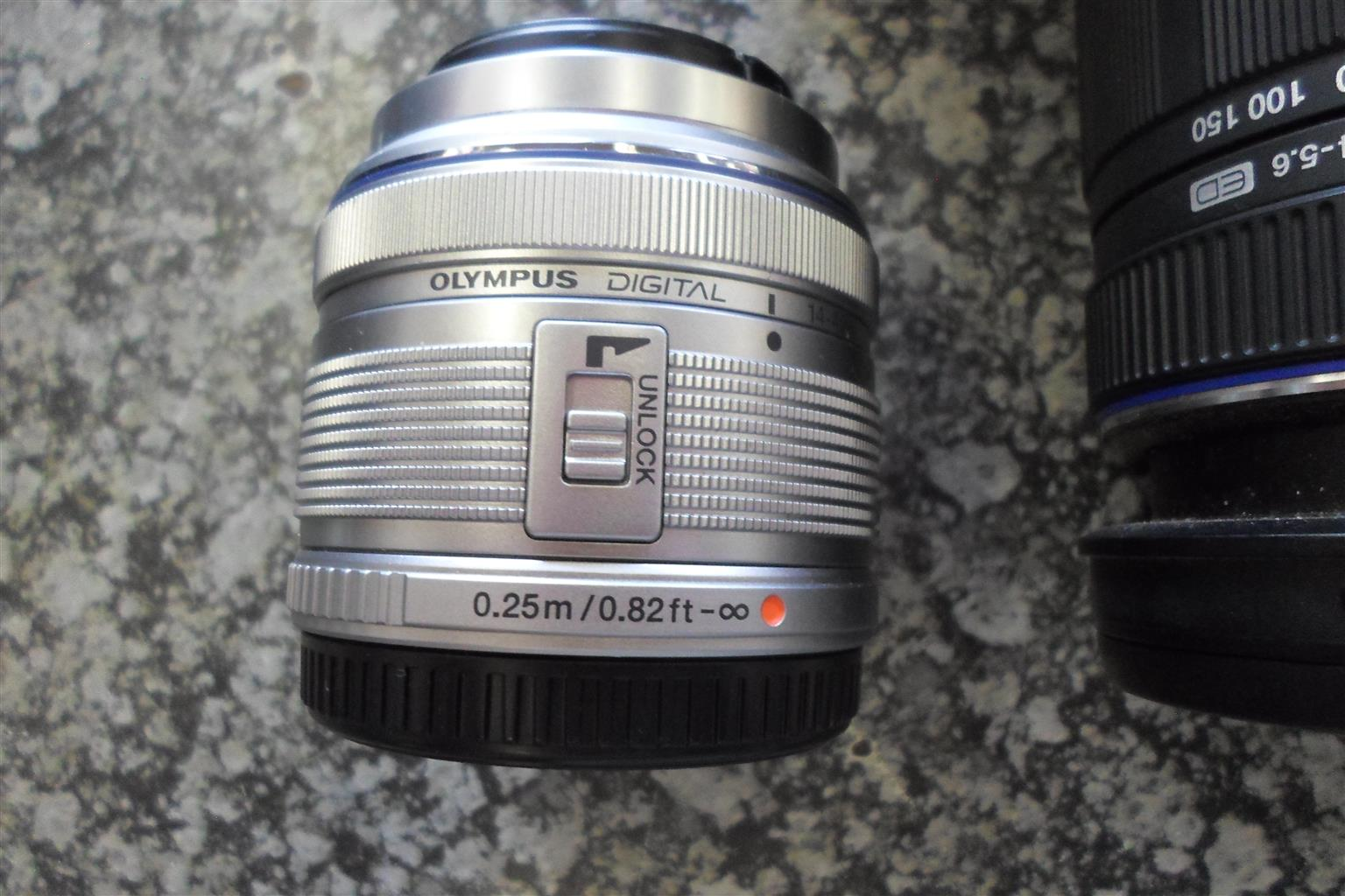 Olympus Pen Lite E-PL3 Camera + Lenses