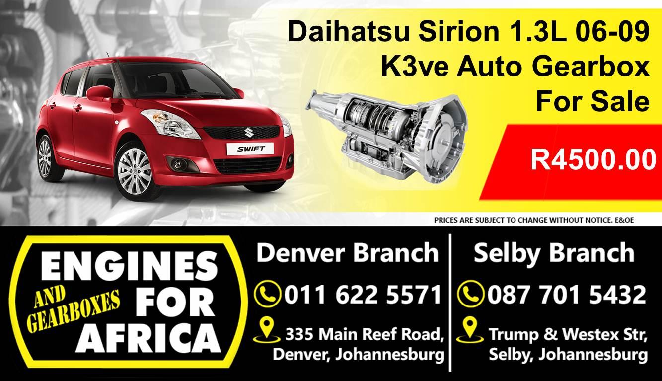 Daihatsu Sirion 1 3L Dohc 06-09 K3ve Auto Gearbox For Sale