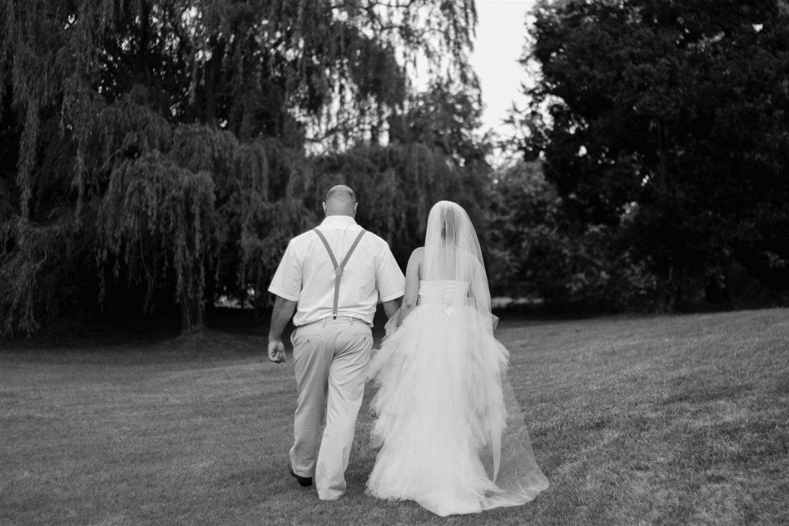 Ivory Wedding Dress and Veil