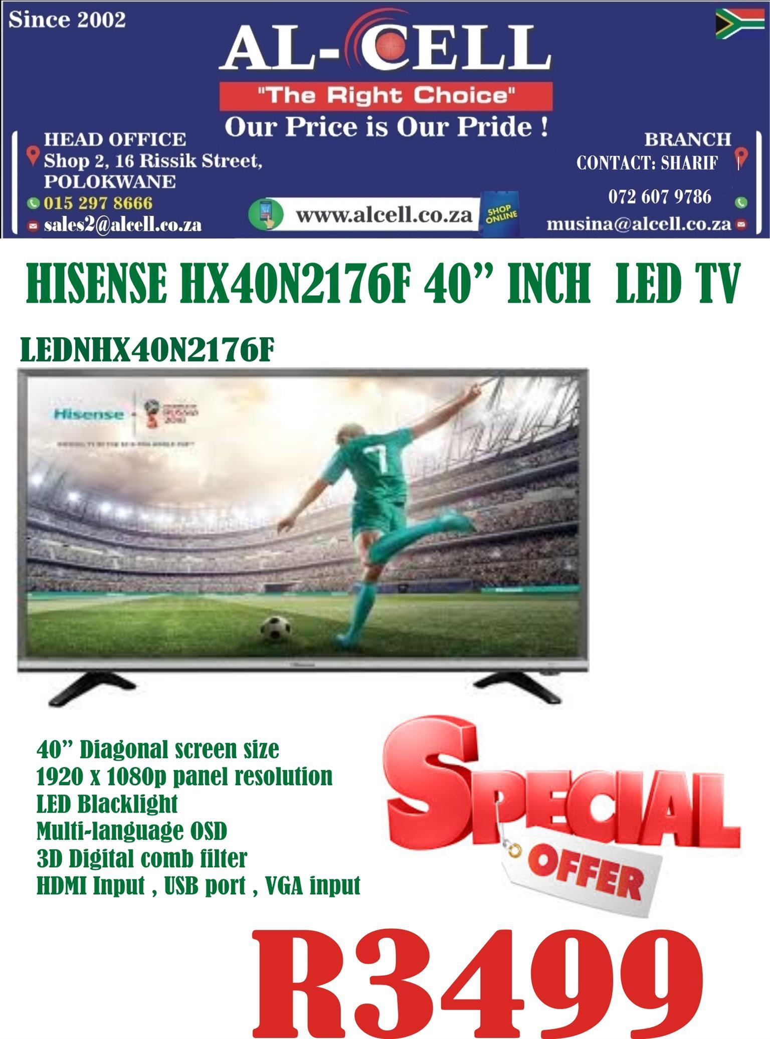 Hisense 40″ Inch HX40N2176F LED Tv
