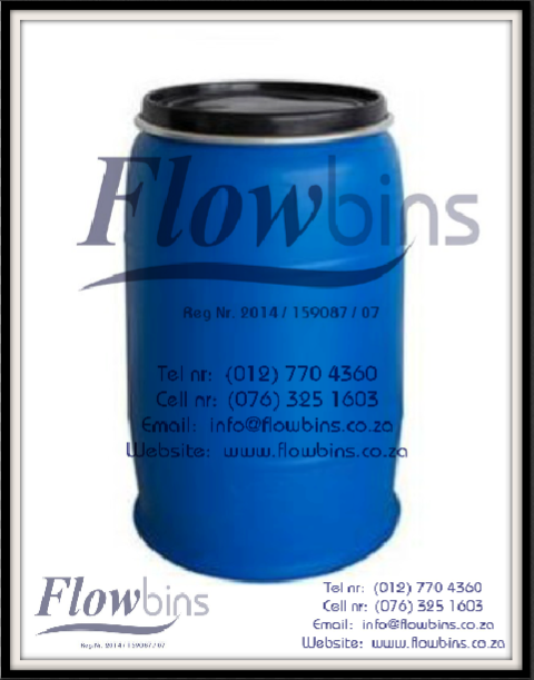 210Lt Blow Pack Plastic drums / 210l Blue round drums from R280