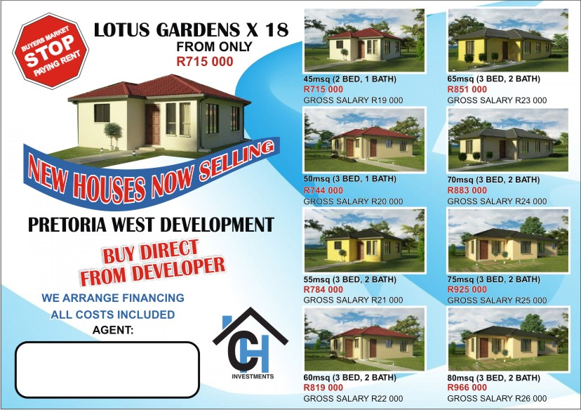 New development houses on sale at Lotus gardens