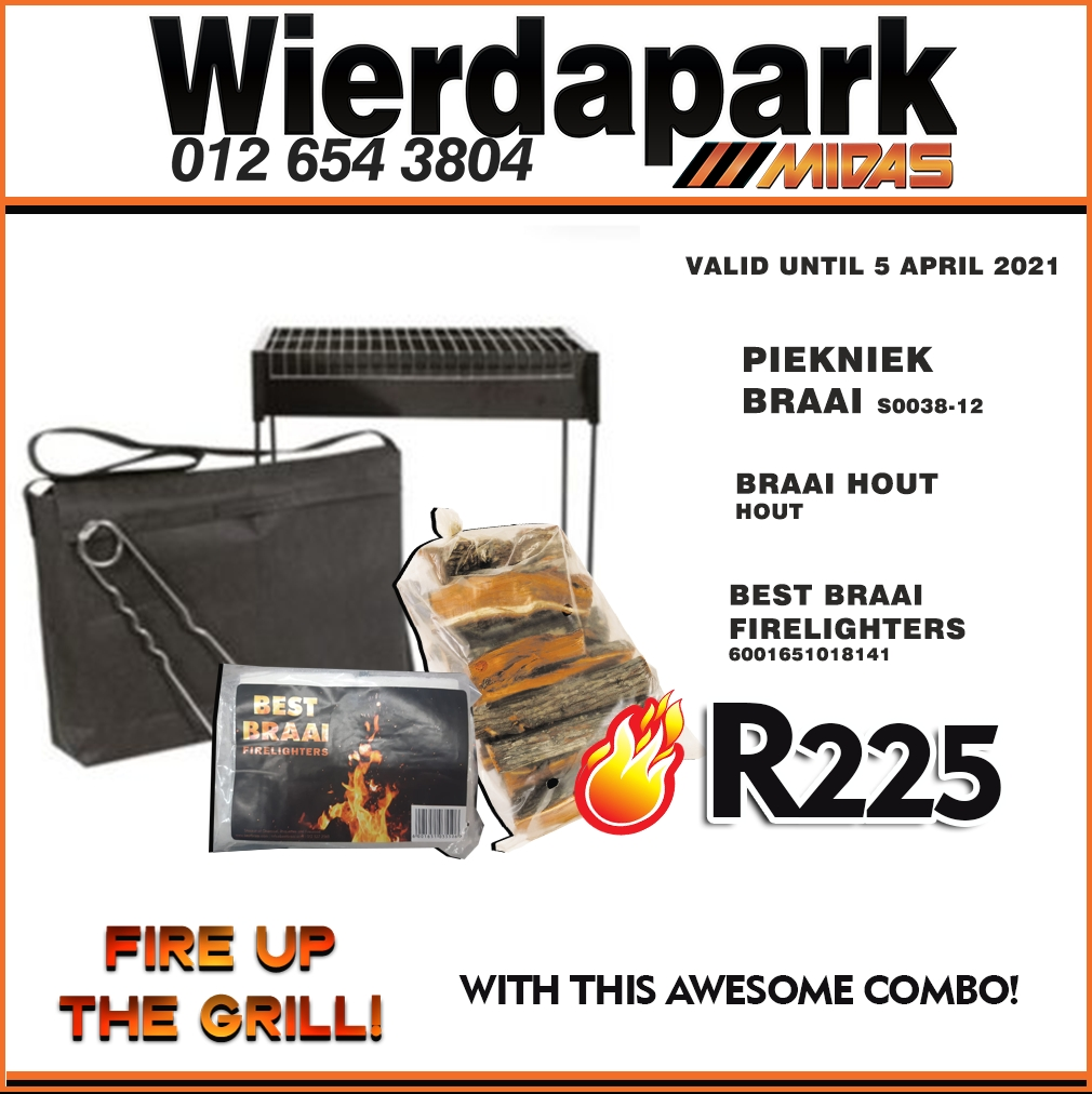 Fire up the Grill with this awesome combo at Wierdapark Midas!