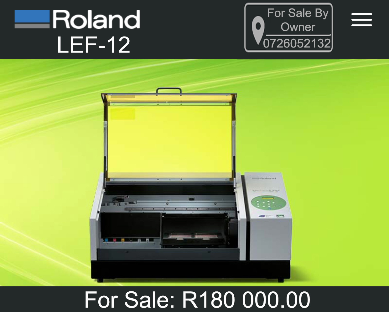 Refurbished Roland LEF-12 UV Printer for Sale
