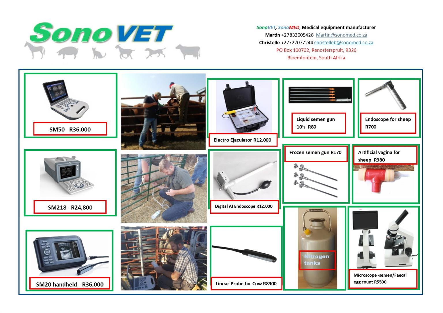Livestock ultrasound pregnancy scanner