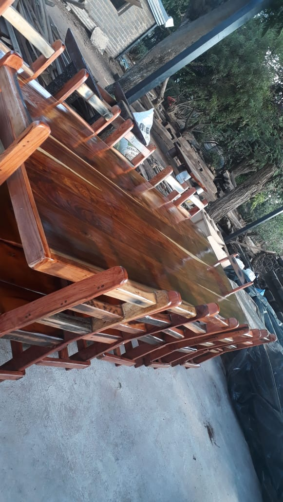 12 Seater table and chairs