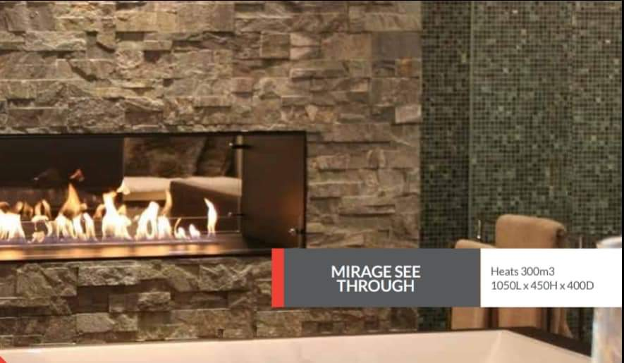 Double Sided Fireplace!