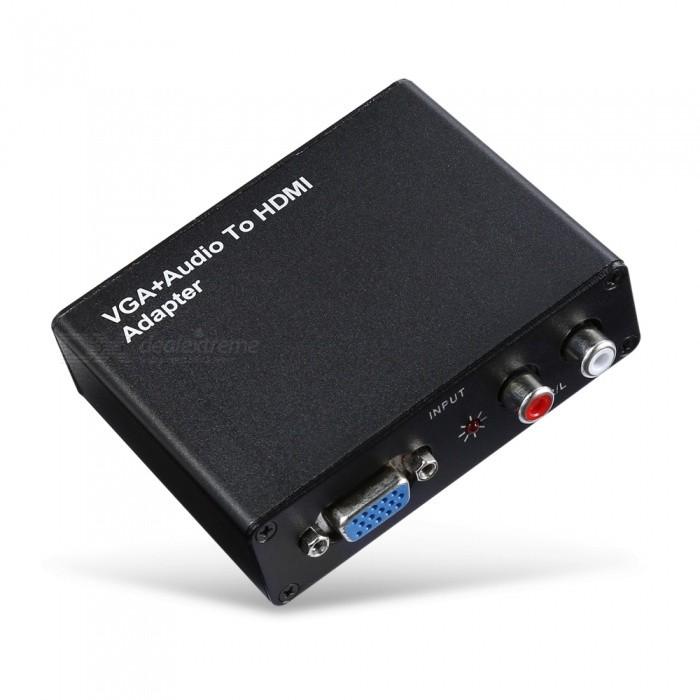 VGA + R/L To HDMI Adapter